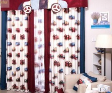 儿童卧室家居卡通窗帘