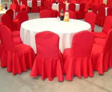 婚庆用餐厅椅子套制作